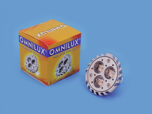 OMNILUX MR-16 12V GU-5,3 3x2W LED 6500K 30°