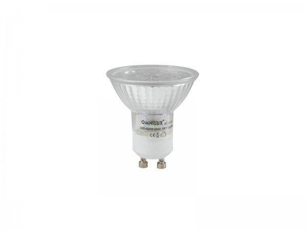OMNILUX GU-10 230V 18 LED rot