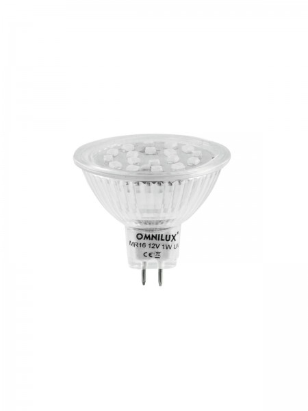 OMNILUX MR-16 12V GX-5,3 18 LED UV aktiv